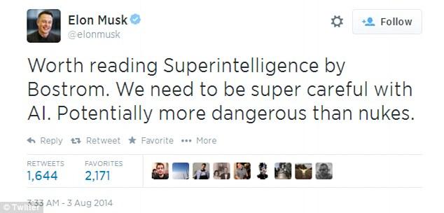 """Elon Musk: Trí tuệ nhân tạo là """"Hiểm họa lớn nhất mà nền văn minh loài người phải đối diện"""" post thumbnail image"""
