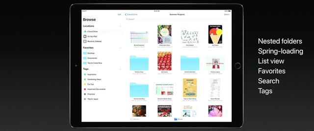 iPad với iOS 11 mới toanh được giới thiệu trong WWDC 2017