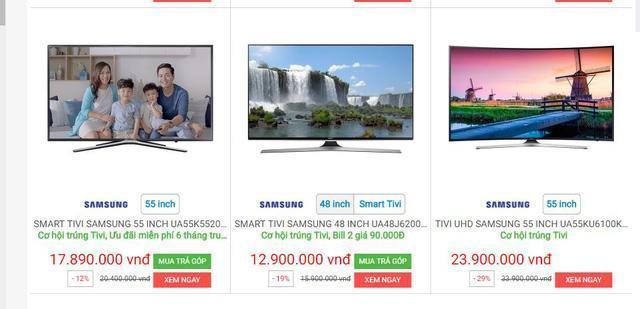 Khảo sát giá dòng Smart TV của Samsung, bạn có thể nhận thấy giá của những chiếc Smart TV Samsung chỉ nhỉnh hơn TV thông thường một chút .