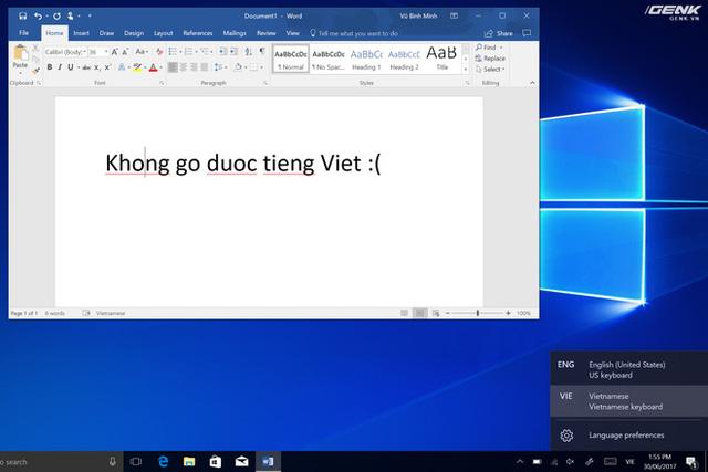Windows có tích hợp sẵn bộ gõ tiếng Việt, tuy nhiên nó gần như vô dụng do sử dụng quy ước bỏ dấu chẳng giống ai
